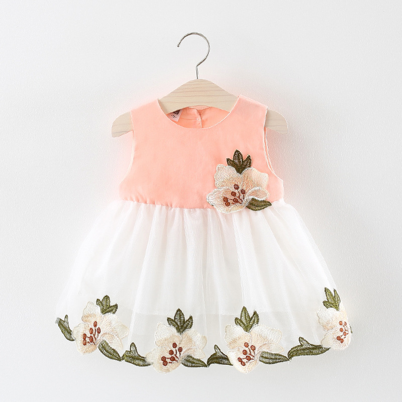 Girl Baby Dress Infant Dresses Summer 2018 Brand Fashion Flower Baby Girl Clothes For 1st Birthday Party Dress vestido infantil