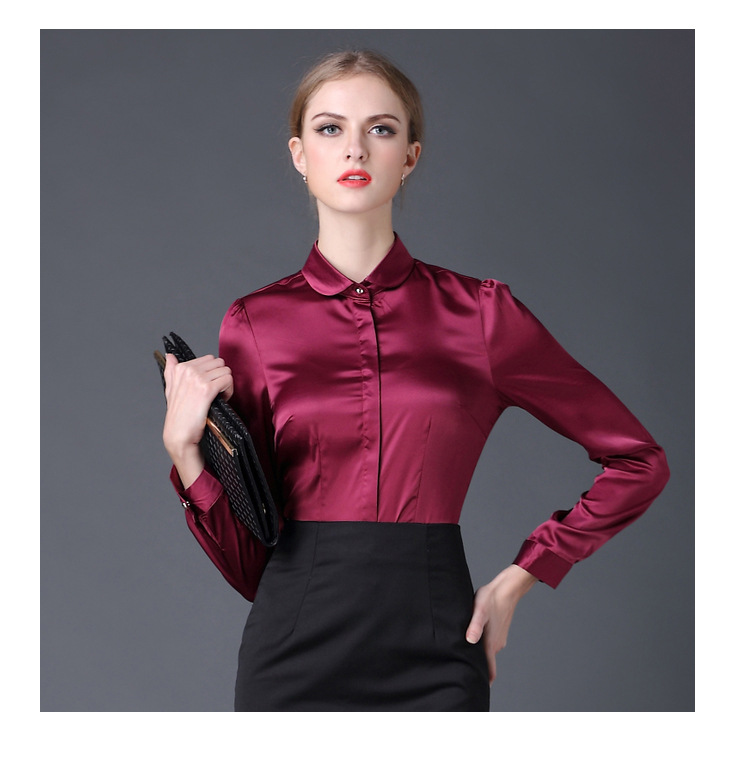 aeProduct.getSubject() - Aliexpress.com : Buy 2017 New Satin Shirt Women Long Sleeve Peter