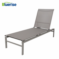 BLUERISE Outdoor Patio Sun lounger positions reclining European style design durable powder coated steel frame Solarium Chaise