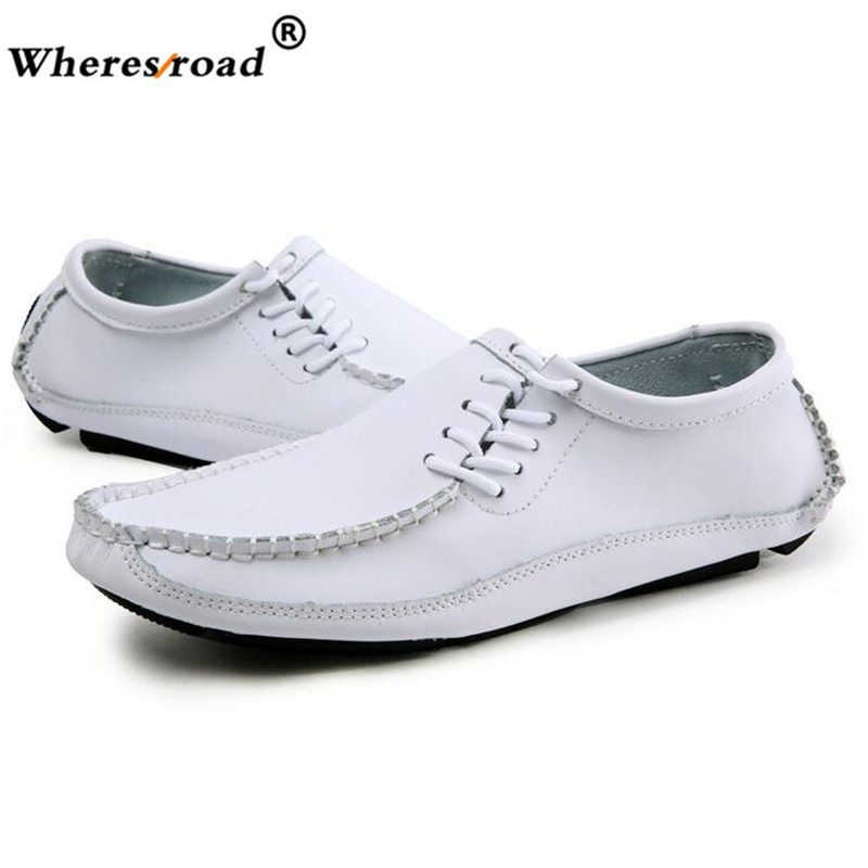 Spring Summer Moccasins Men Loafers Shoes Male Flats Genuine Leather Casual Boat Walking Driver Footwear 2018 Plus size38-46 northmarch classic spring summer moccasins men loafers shoes male flats genuine leather casual driving shoes mens footwear