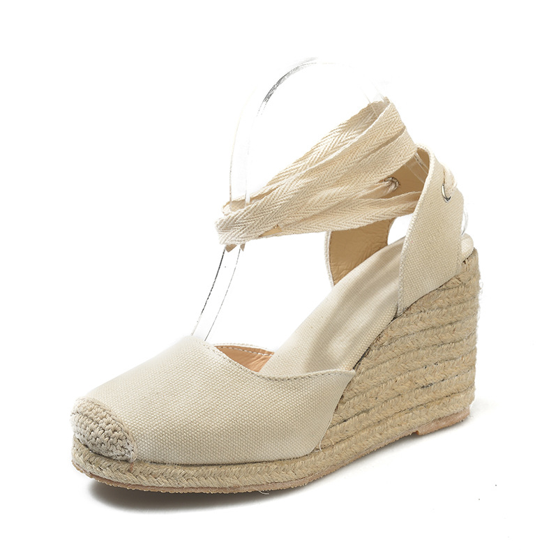 HTB12XPTaozrK1RjSspmq6AOdFXa6 Women's Espadrille Ankle Strap Sandals Comfortable Slippers Ladies Womens Casual Shoes Breathable Flax Hemp Canvas Pumps