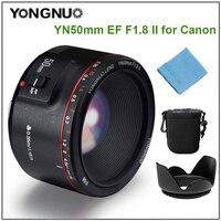 YONGNUO YN50mm F1.8 II Lens fixed focus lens EF 50mm F/1.8 AF/MF lense Large Aperture Auto Focus Lens for Canon DSLR Camera