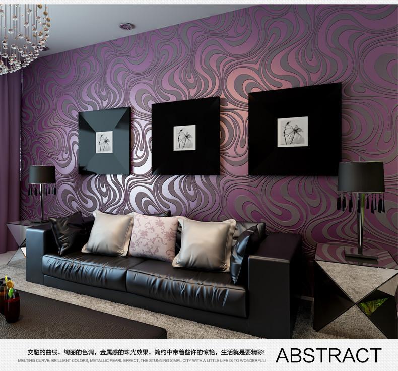 US $28.85 |For living room bedroom 3D geometric wallpaper roll Sprinkle  gold, black purple color Non woven wallpaper background wallpaper-in ...