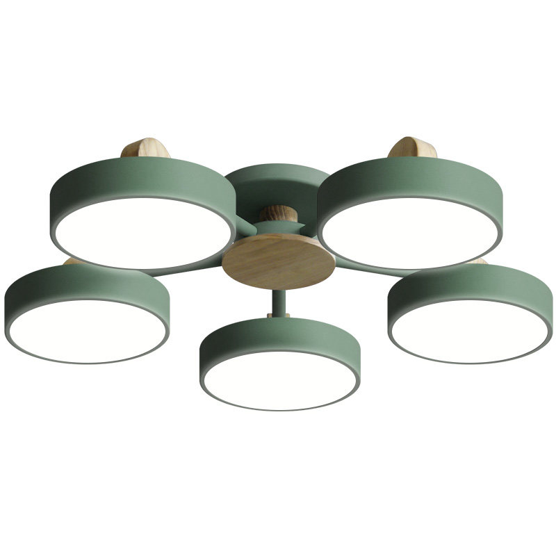 Modern Nordic ceiling Lights macaron Color simple design Ceiling Lamp 8 arm Fixture For Living Room Bedroom round corridor lamp