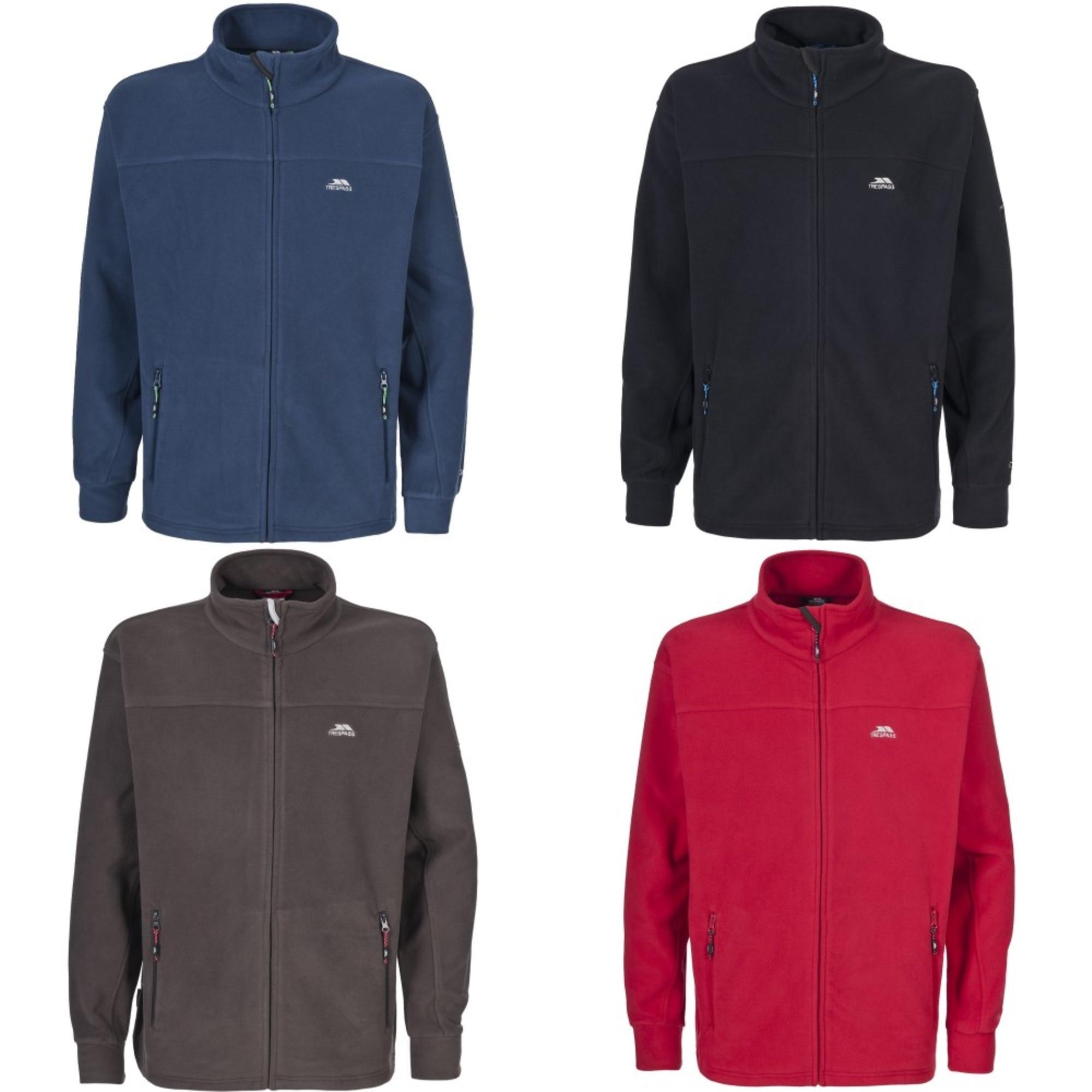 Mens jacket online - Trespass Mens Bernal Full Zip Fleece Jacket
