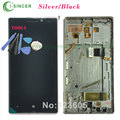 Silver or Black For Nokia Lumia 930 LCD Display Touch Digitizer Screen Assembly With Frame +Tools Free Shipping
