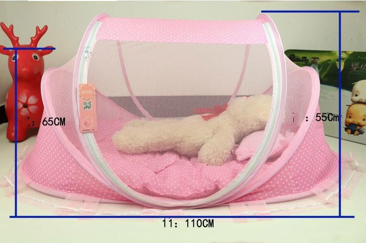 Купить с кэшбэком 2019 Spring Winter 0-3Years Baby Bed Portable Foldable Baby Crib With Netting Newborn Sleep Bed Travel Bed Baby 100%Cotton BD10