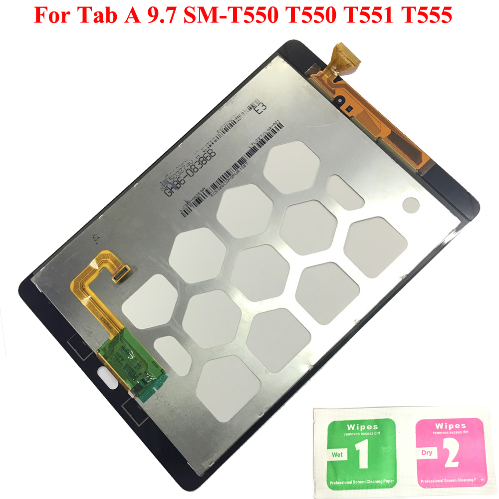 New LCD Display Touch Screen Digitizer Sensors Assembly Panel Replacement For Samsung GALAXY Tab A 9.7 SM-T550 T550 T551 T555