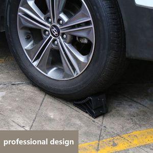 Image 5 - 2 قطعة Antislip سيارة سيارة عجلة شاحنة الاطارات السكة وقف كتلة سوداء