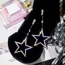US $0.93 45% OFF|2018 New Fashion Brincos Oorbellen Bijoux Crystal Rhinestone Hollow Five pointed Star Hanging Earrings Ladies Fashion Jewelry -in Drop Earrings from Jewelry & Accessories on Aliexpress.com | Alibaba Group