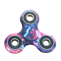 100pcs Lot DHL Delivery Tri Spinner Fidget Plastic Starry Fidget Hand Spinner For Autism ADHD Rotation