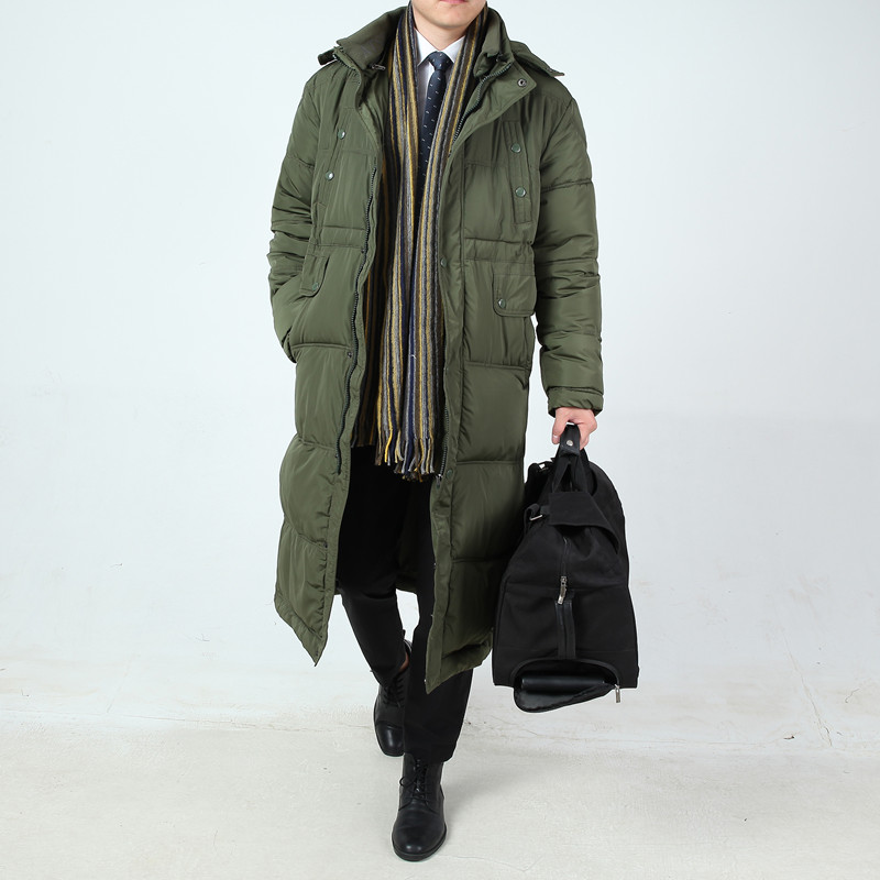 new arrival Winter thickening medium-long male long outerwear big thermal cotton-padded jacket plus size LXL2XL3XL4XL5XL6XL