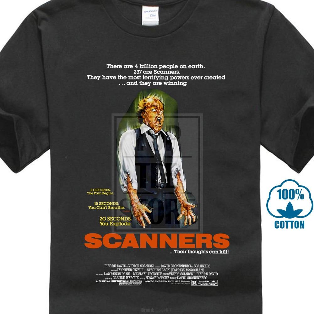 3d Print T-shirt Katoenen Tops Tee Scanners 1 T Shirt Zwart Movie Poster Alle Maten S 5 Xlhip Hop Casual Kleding Levendig En Geweldig In Stijl