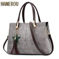 Fashion 2018 PU Leather Shoulder Bag Ladies Autumn Handbags Famous Brands Women Black Saffiano Tote Bag