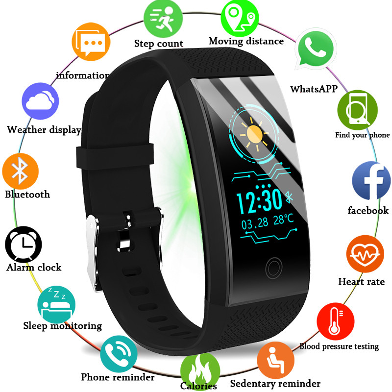 BANGWEI 2019 New Men Smar Watch Blood Pressure Heart Rate Monitor Tracker Student Sleep Swimming Electronic Watchs Men And Women