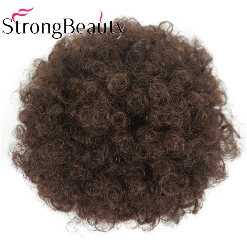 Strongbeauty Afro Rabo de Cavalo Coque Chignon
