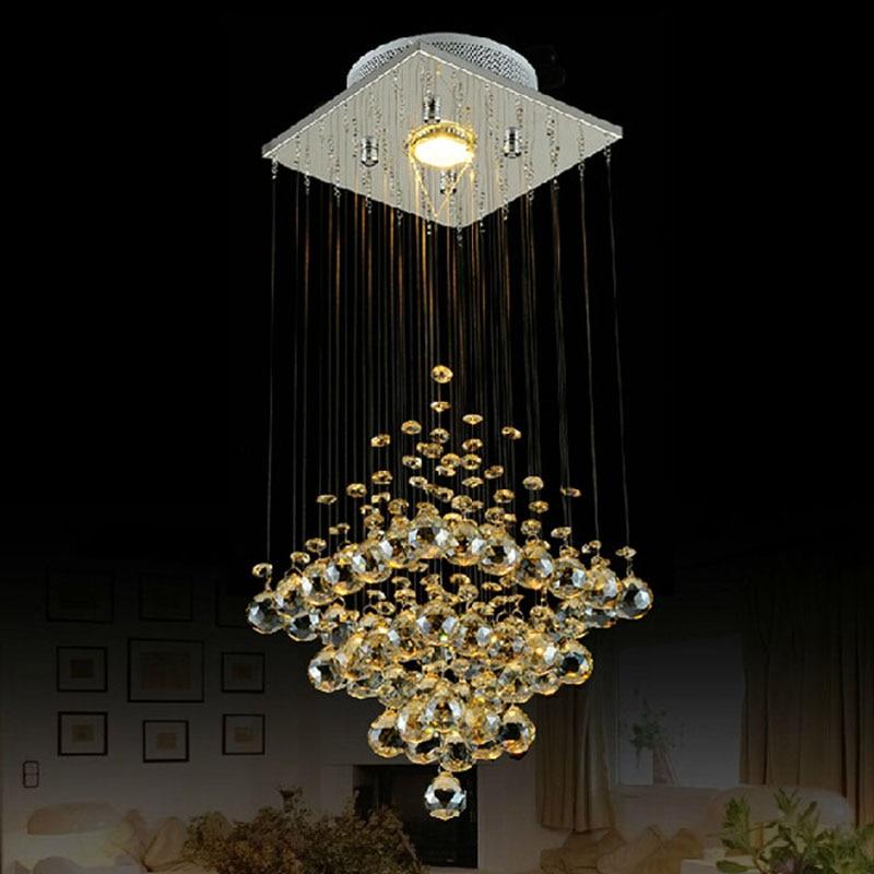 10 Best Of Modern Stairwell Pendant Lighting: Modern Brief Crystal Pendant Lighting GU10 LED Hanging