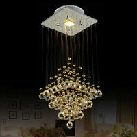 Modern Brief Crystal Pendant Lighting GU10 LED Hanging Drop Lamp Stair Corridor Luminaire Italy Style Promoted Lighting