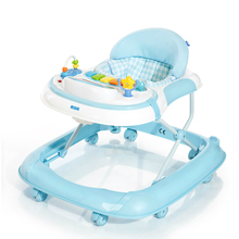 High Quality Baby Walker Anti Rollover Multifunctional Baby Walking Learning Car Driving Large Chassis Foldable Music