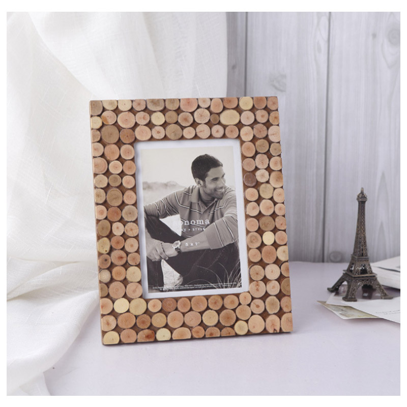 Original Ecology Rustic Wood Phot Frame Vintage Handcrafted Nature Pine  Wood Chip Frames Home Decor Wooden Wall Picture Frame-in Frame from Home &  Garden on ...
