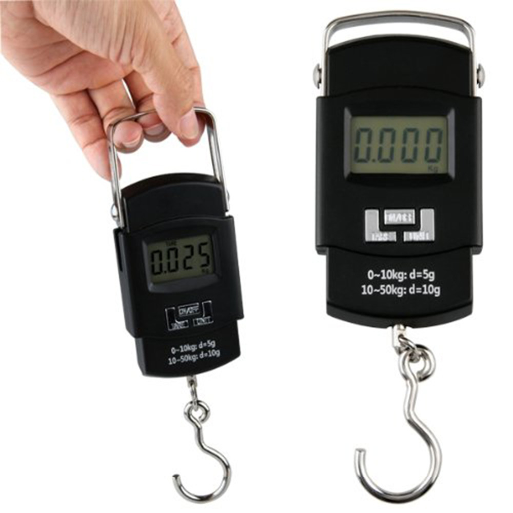 50KG/110LB 10g Electronic Portable Digital Scale Hanging Hook Fishing Travel Luggage Weight Scale for Baggage Balance Steelyard50KG/110LB 10g Electronic Portable Digital Scale Hanging Hook Fishing Travel Luggage Weight Scale for Baggage Balance Steelyard