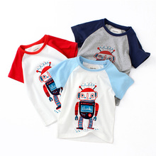 Cartoon T Shirt Boys Short Sleeves T  2019 Summer Children's Clothing Cotton Toddler Girl Tops Tee Boy Kids T-shirt 2-6Y lovely cozy baby girl tops shirt kids child toddler soft cotton fall t shirt tee