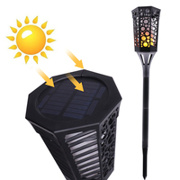Solar Torch Light Flame Flickering Lamp Outdoor Solar Powered Landscape Decoration for Garden Yard Lawn