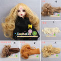 1pcs 15cm short curly 1/3 1/4 1/6 BJD/SD Doll hair/ DIY doll natrual color wigs hair wig for bjd doll(1-15)