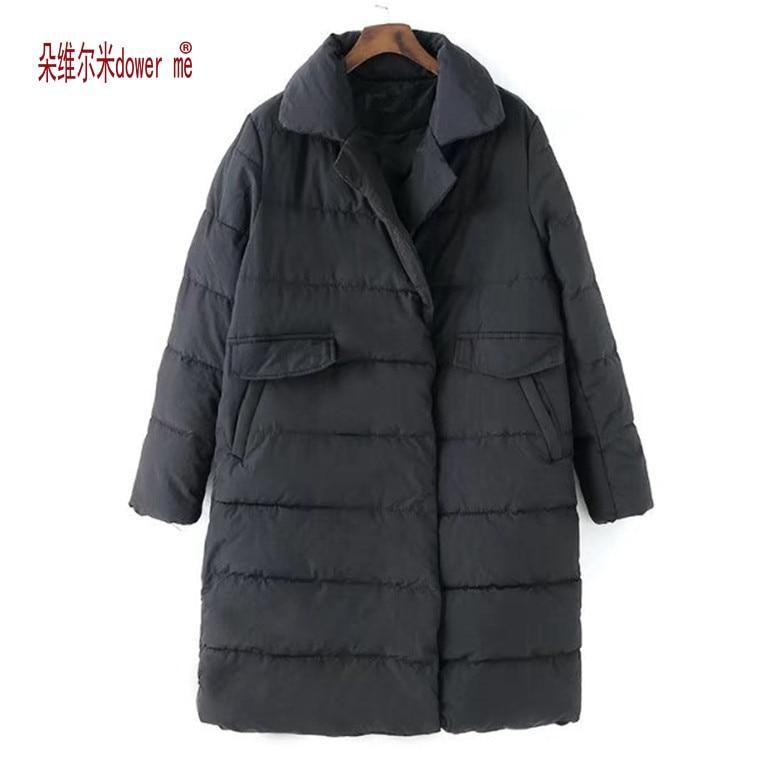 dower me 2017 New Winter Jacket Women Hooded Thicken Coat Female Fashion Warm Outwear Down Cotton-Padded Long Wadded Coat Parka цена и фото