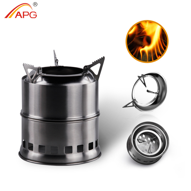 APG Outdoor wood gas wood-burning stove portable folding firewood stove camping gasification furnace