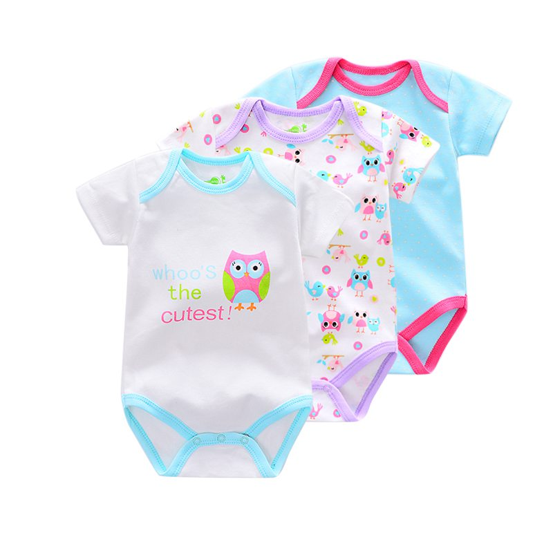 2017 Summer baby Newborn Overall Boy Baby Bodysuits Short Sleeve cotton infant Baby girl Jumpsuit Newborn Clothes 3Pieces/lot jung kook bts persona