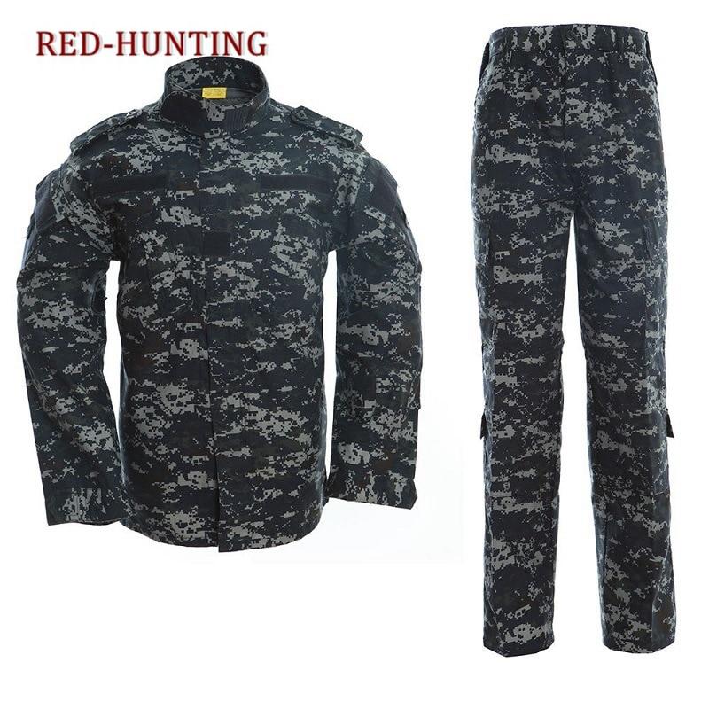 Tactical US Army Camouflage Combat Uniform Men ACU Multicam Camo Military Clothing Set Airsoft Outdoor Jacket + Pants Multicam