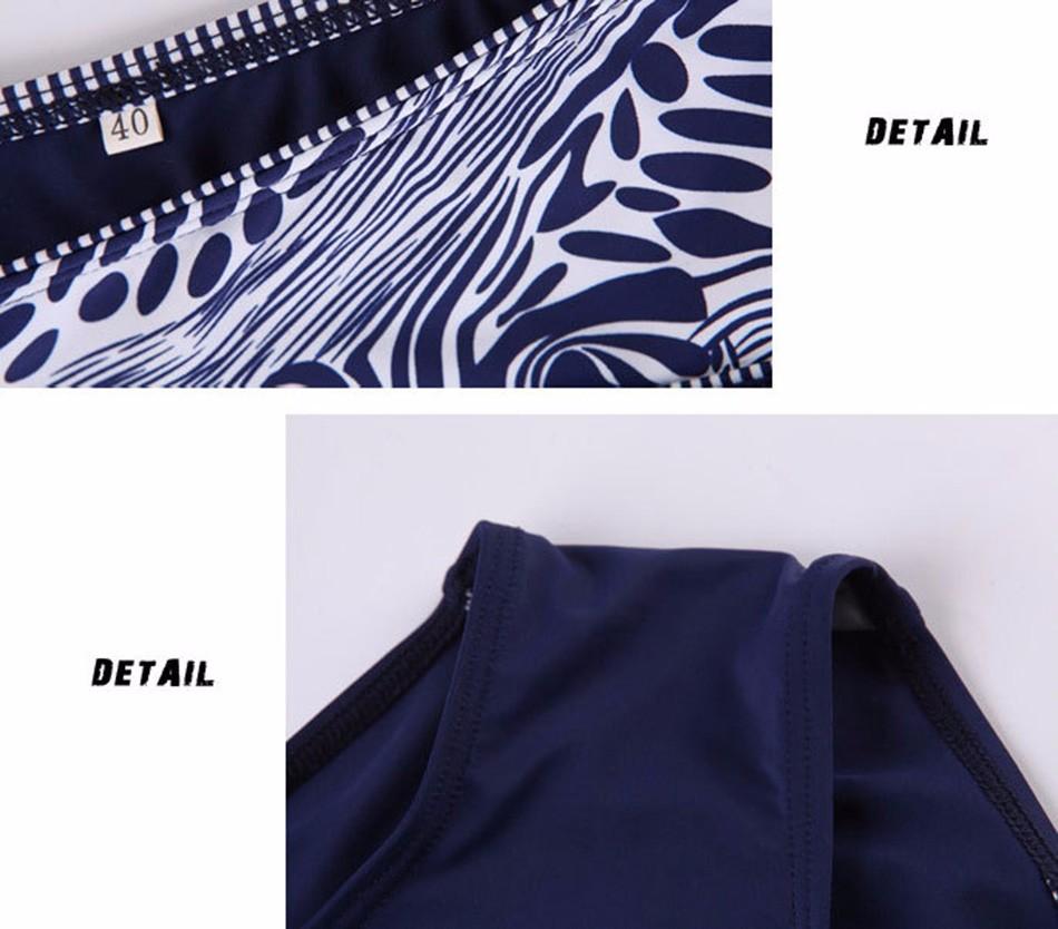 Extra Large Size Middle Waist Printed Bikini Swimwear Big Bra Soft Cup Tunic Bikinis Set Swimsuit Bathing Suit 4