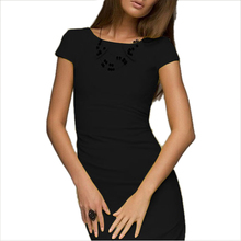 ADW 2017 NEW sexy summer dress Lady Casual vestido Bodycon Elegant short sleeve o-neck Party evening club midi dress M