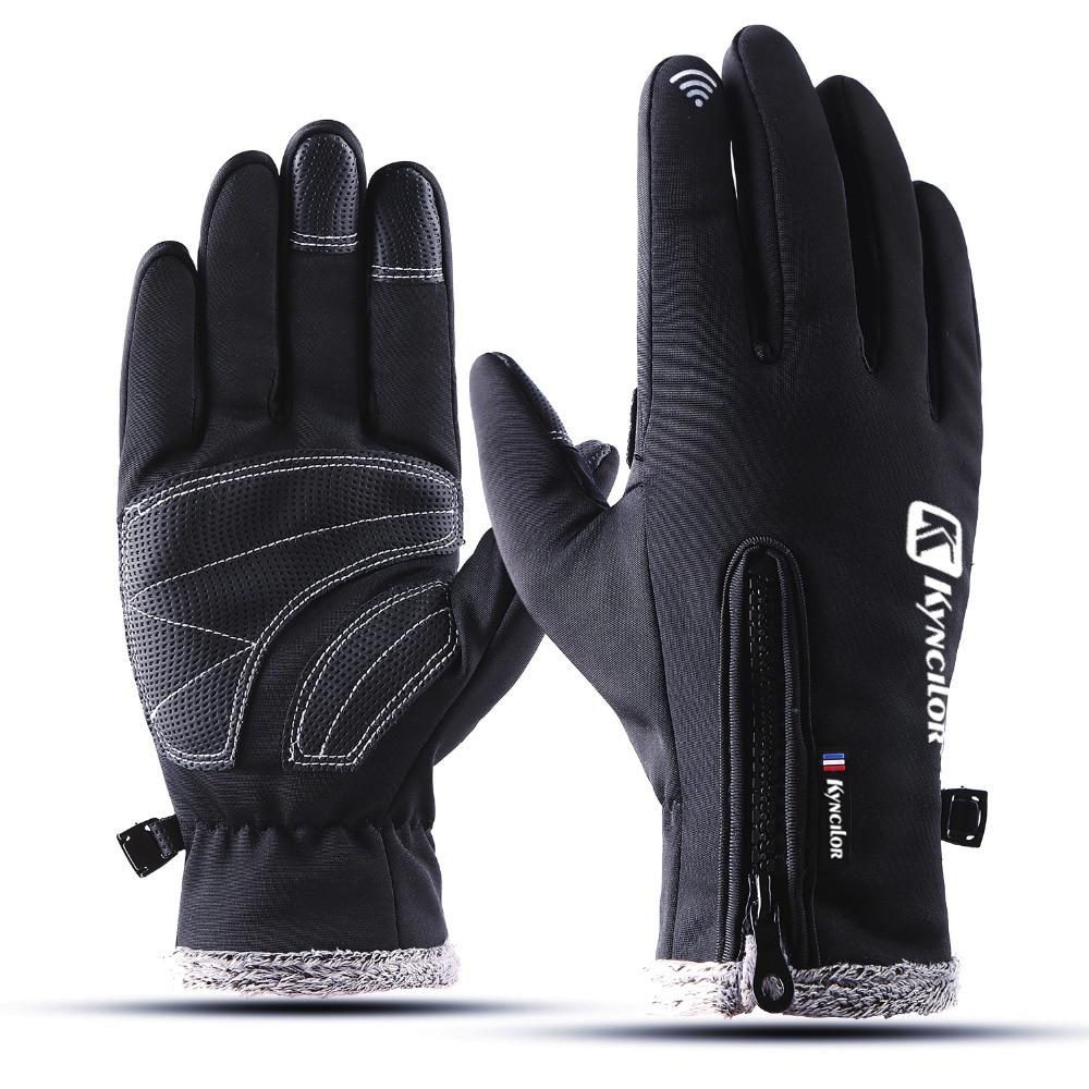 Verdicken Warm Radfahren Handschuh Wasserdicht Winddicht Männer Fahrrad Handschuhe Volle Finger Touch Sreen Handschuhe luva ciclismo Für Frauen Männer