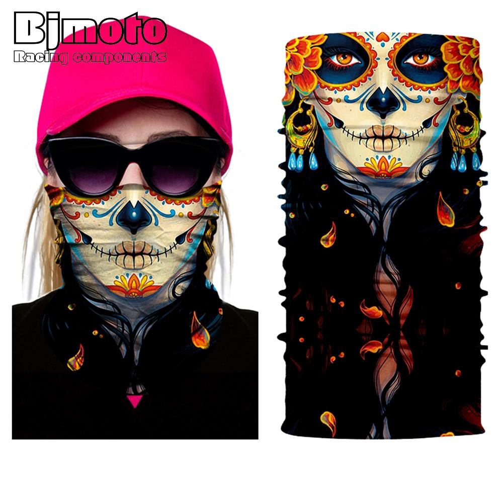 Men women Skull Face Bandana Ghost Clown Face Shield Halloween Multifunctional Bandana Headwears Magic Seamless Bandana