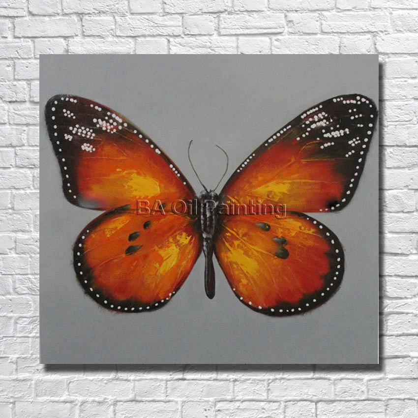 paintings for living room ✅Beautiful High Quality Hand Painted Canvas Art Butterfly Oil  paintings for living room