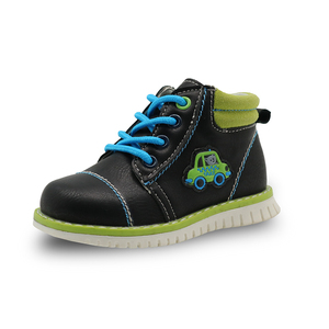 Image 2 - Apakowa İlkbahar sonbahar erkek çocuk çocuk ayakkabı Pu deri ayak bileği yürümeye başlayan çocuk botları çocuk moda Zip Martin çizmeler katı ayakkabı
