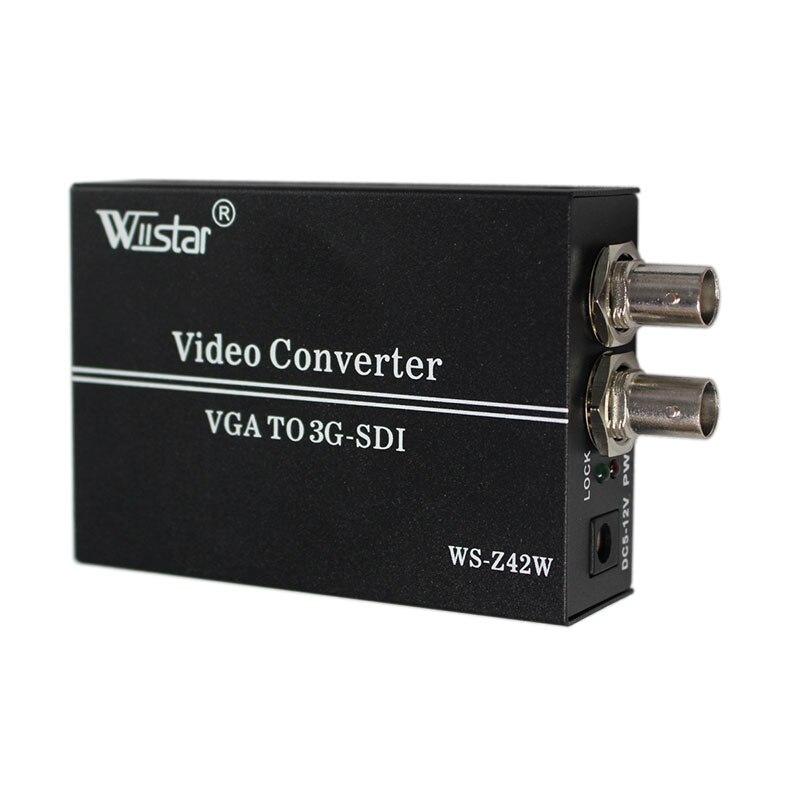 Free shipping wiistar vga TO sdi converter broadcast general display sdi professional monitor