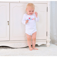 Spring Summer infant cotton long-sleeved clothes and new fashion baby Romper Korean long section clothing free shipping F274
