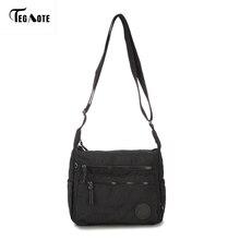 TEGAOTE Wasserdichte Nylon Frauen Messenger Bags Kleine Handtasche Schultertasche Weiblichen Umhängetaschen Handtaschen Hohe Qualität Bolsa Tote