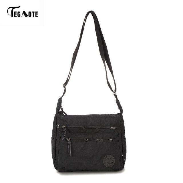 762f1f7d51 TEGAOTE Waterproof Nylon Women Messenger Bags Small Purse Shoulder Bag  Female Crossbody Bags Handbags High Quality Bolsa Tote