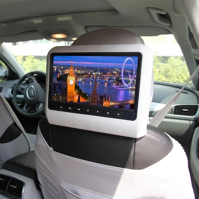 O envio gratuito de 9 Polegada Monitor de Encosto de Cabeça Do Carro Com Tela de 800x480 Embutido Speaker Suporte USB SD DVD Player Jogos Controle remoto