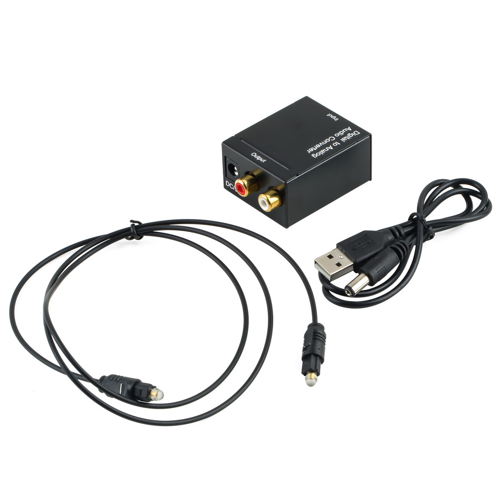 Hot Sale Digital Adaptador Optic Coaxial Rca Toslink Signal To Analog Audio Converter Adapter Cable Free Shipping kopen