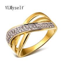 Популярные Кольца полые Дизайн белый и золотой цвет элегантные