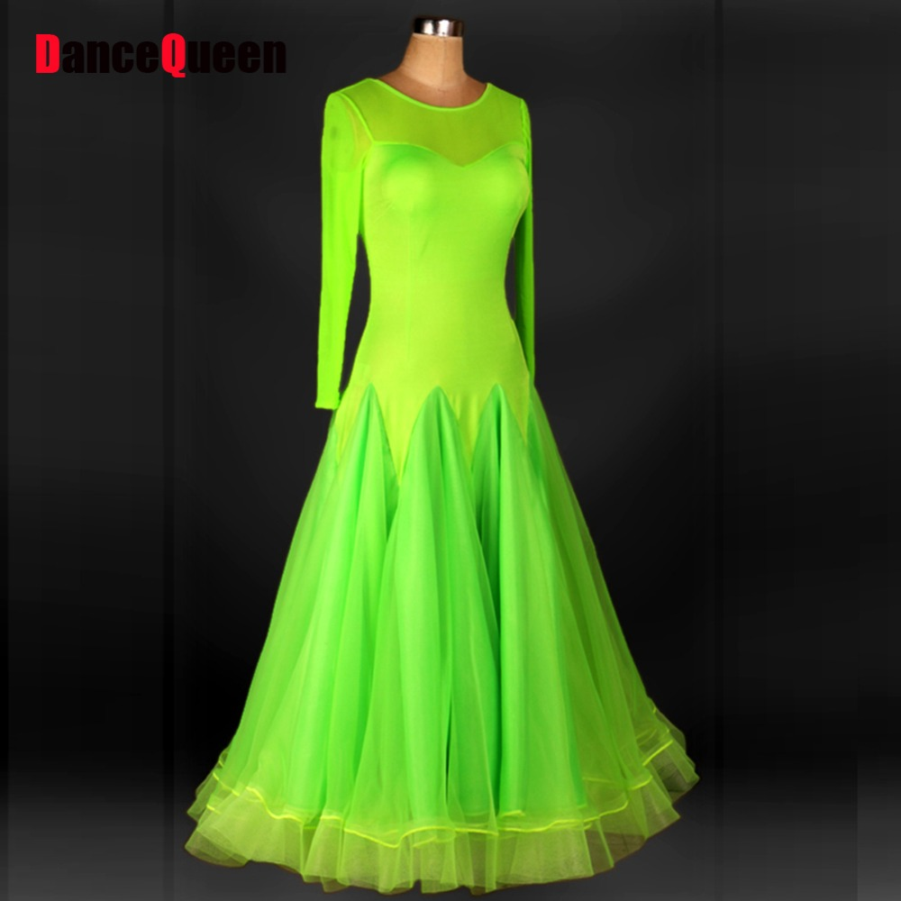 2017 New Ballroom Dance Competition Dresses Green/Black/Red/Purple/Blue Tango/Jazz/Waltz Dress Marine Costumes For Women