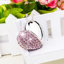 J-boxing USB Flash Drive 64GB 32GB Crystal Heart Design Pen Data Storage 16GB 8GB 2.0 Stick for Computer PC Pink