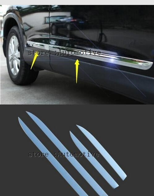 FOR HONDA CRV CR V 2012 2013 2014 2015 2016 CHROME SIDE DOOR BODY MOLDING TRIM
