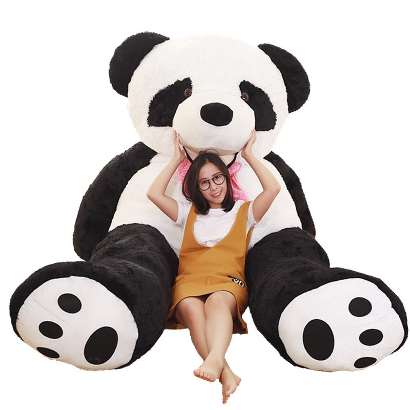 Stuffed & Plush Animals Giant Oversize Panda SKIN 260CM EMPTY Plush Panda Bear Doll SKIN Fabric Plush Toys Accessories Plush Toy mr froger carcharodon megalodon model giant tooth shark sphyrna aquatic creatures wild animals zoo modeling plastic sea lift toy