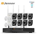 Jennov 1080P Video Überwachung Kit CCTV System NVR Wifi 2MP 8CH P2P HD Outdoor Ip kamera IP66 Drahtlose Sicherheit kamera System|Überwachungssystem|Sicherheit und Schutz -